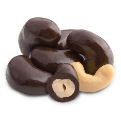 Kešu v hořké čokoládě